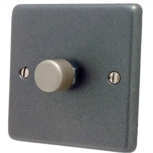 G&H CP15 Standard Plate Pewter 1 Gang 1 or 2 Way 700W Dimmer Switch Single Plate